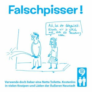 Falschpisser-Fliese