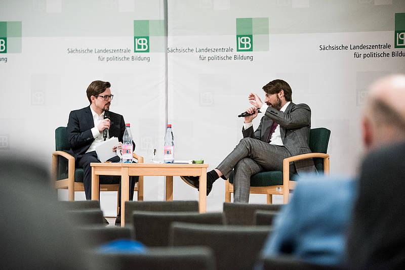 Donnerstagsgespräch in der Landeszentrale für politische Bildung: Foto: Thomas Schlorke